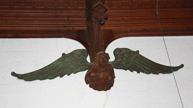 St John, Stansted Mountfitchet - Roof angel