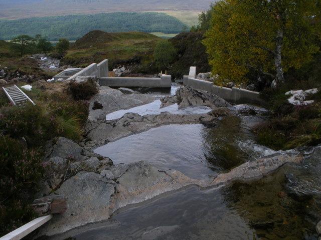 New Hydro Electric works on the Allt Coire na Gaoith Bhain