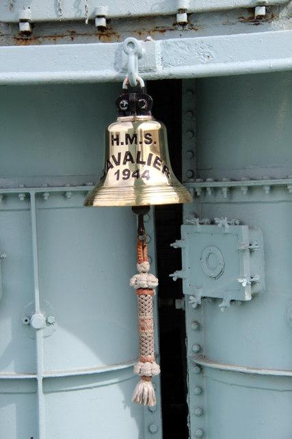Bell on HMS Cavalier, WWII Destroyer, Chatham Historic Dockyard, Kent
