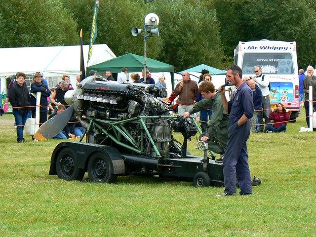 Rolls-Royce 'Merlin' engine (2 of 3), White Horse Show, Uffington 2011