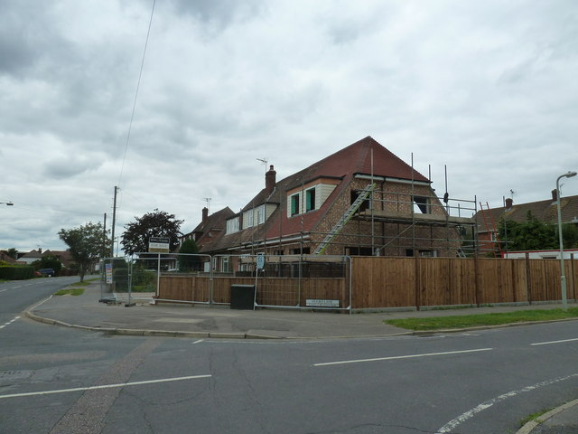 New build nearing completion at the junction of Hooks and Park Lanes