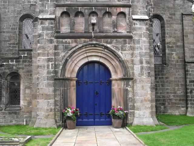 St John's Church, Buglawton- South door detail
