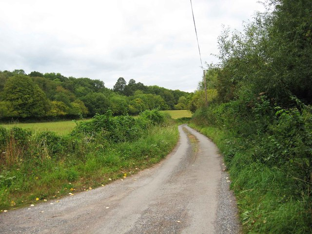 Brunthorne Lane looking north, near Areley Kings