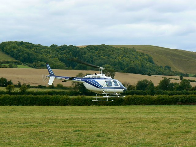 Helicopter at the White Horse Show, Uffington 2011