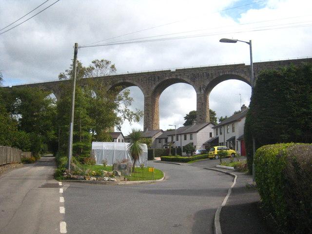 The railway viaduct at Angarrack