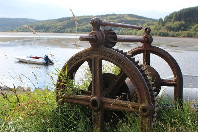 Old windlass, Crinan Ferry
