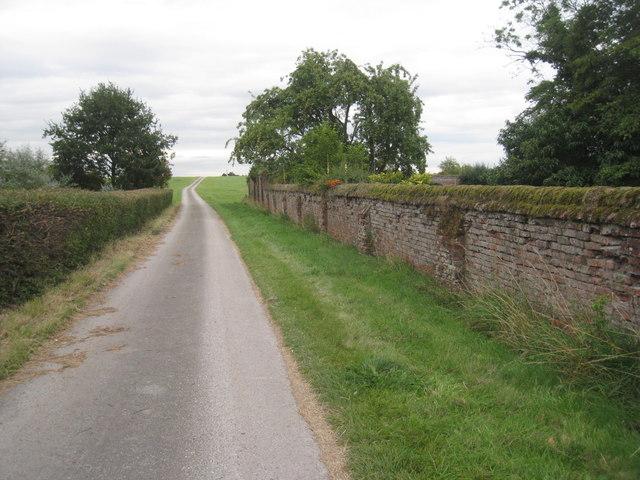 The path to Hall Farm