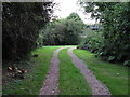 TM2236 : Footpath on track, near Colton Cottage by Roger Jones