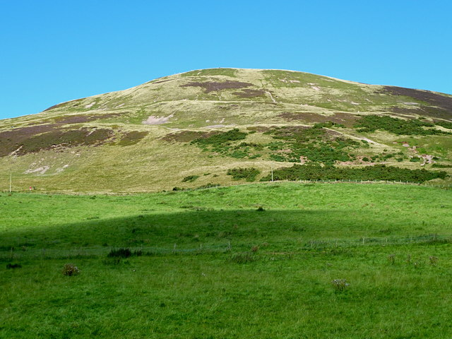 Upper slopes of Castlelaw Hill from the south-west