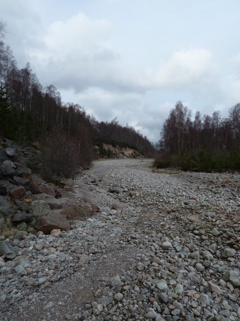 Almost dry river bed, Glen Feshie