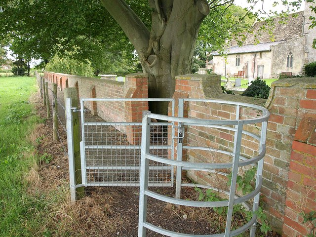 Gate and path by Chirton church