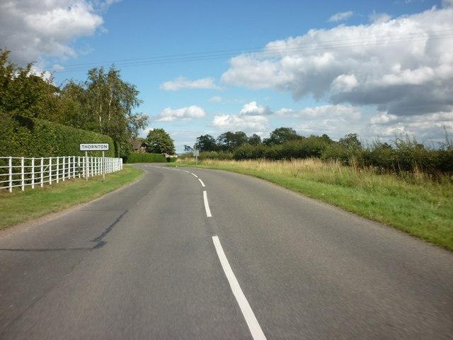 Entering Thornton, Lincolnshire