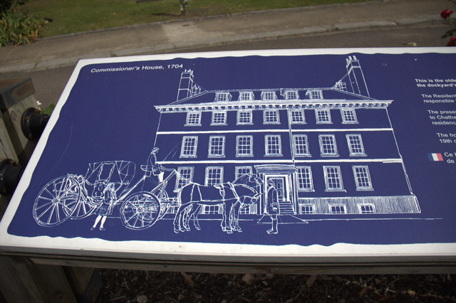 Information Board re Commissioner's House, Chatham Historic Dockyard, Kent