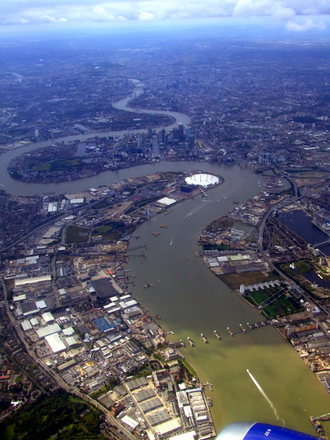 The Thames Barrier from the air