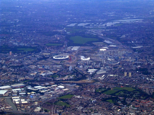 London Olympics site from the air