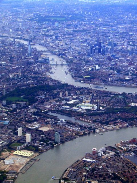 Greenland Dock from the air
