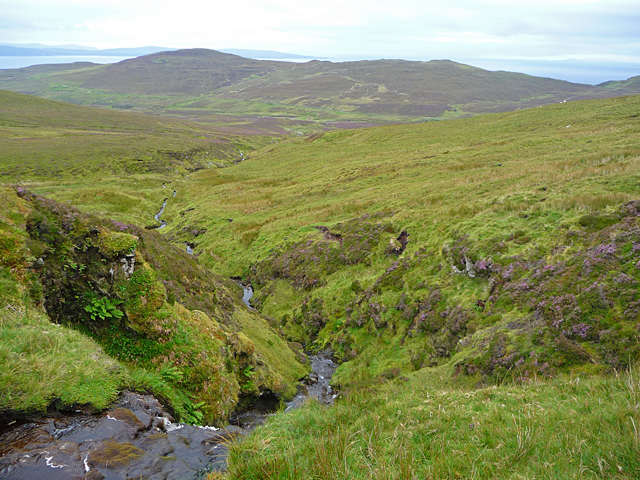 Looking down the Lon Bota Meanachain