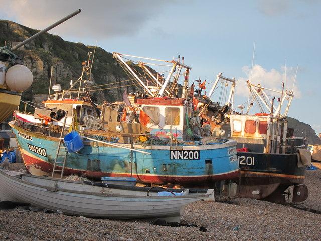 Fishing boats at Fishermen's Stade