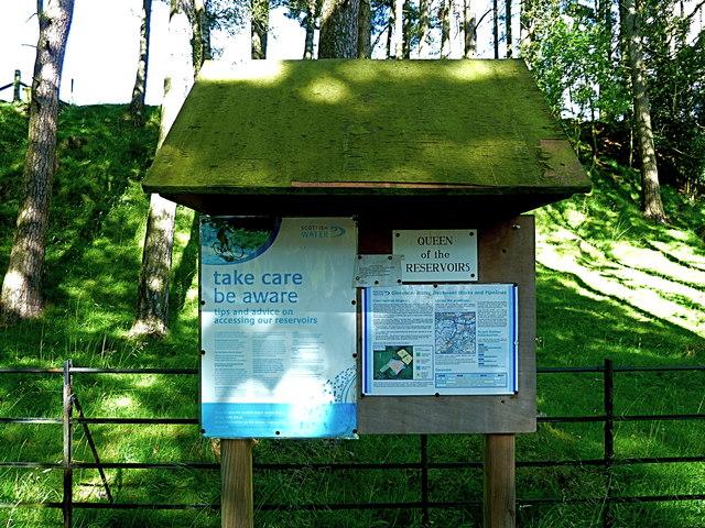 Information board, Glencorse, Pentlands