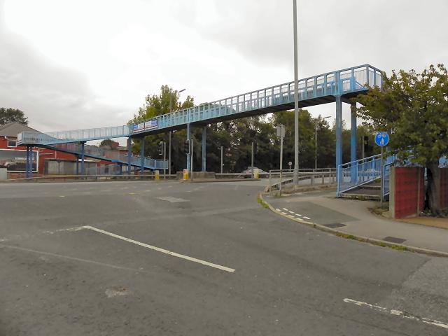 Footbridge over East Lancashire Road (A580)