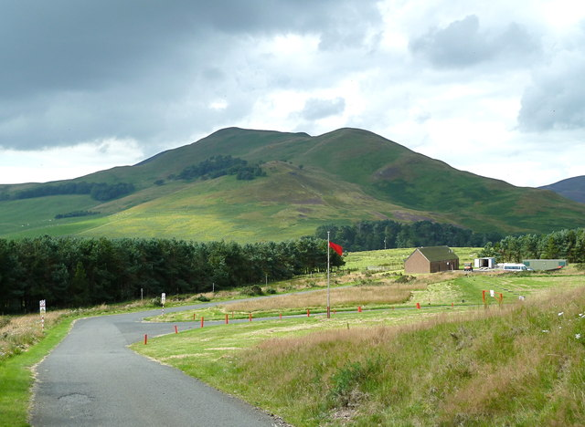 Access road to military firing ranges at Castlelaw