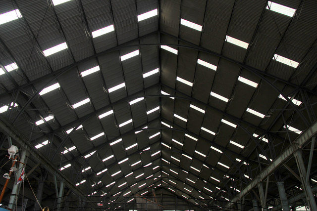 Roof of the Lifeboat Museum, Chatham Historic Dockyard, Kent