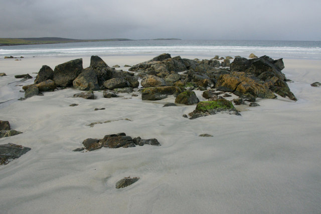 Rocks on the south end of the Easting beach