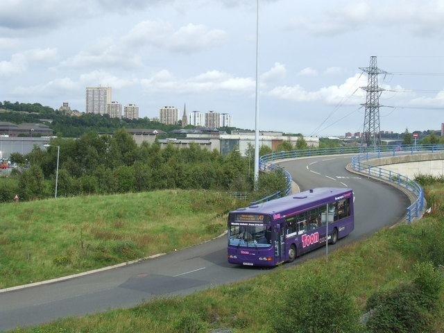 Bus access road at the Metrocentre