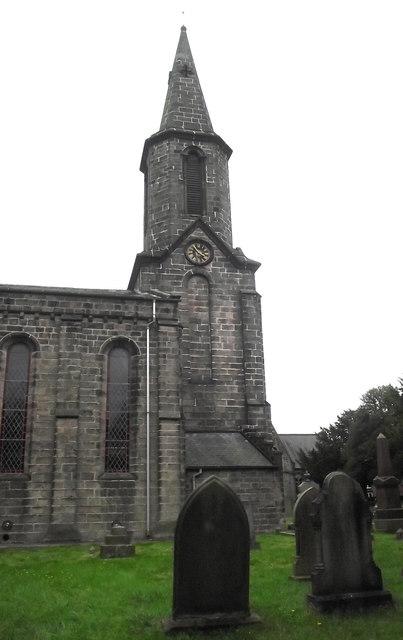 St John's Church, Buglawton- Western clockface