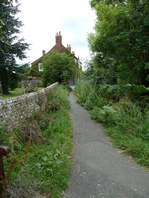 Footpath running past Bosham Churchyard