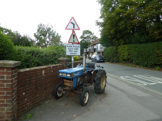Tractor in Bosham Lane