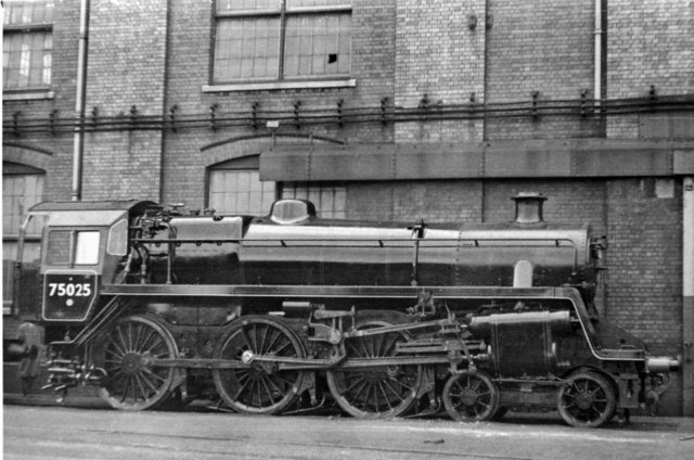 BR Standard 4MT 4-6-0 brand-new at Swindon Works