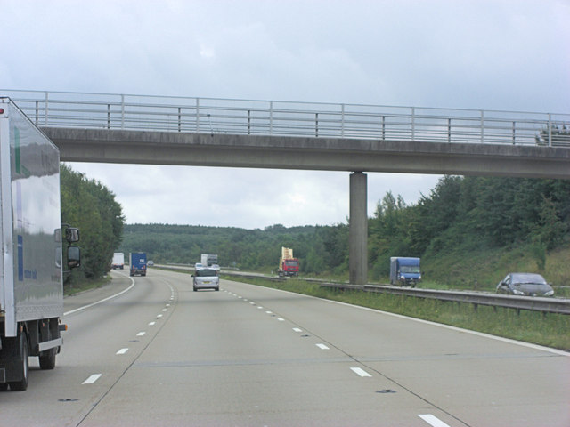 M20 bridge carries minor road southwest of Charing