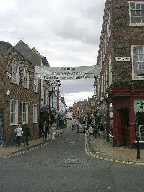 Fossgate - viewed from Pavement