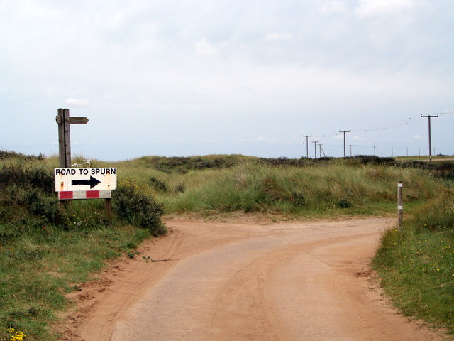 The road to Spurn Head