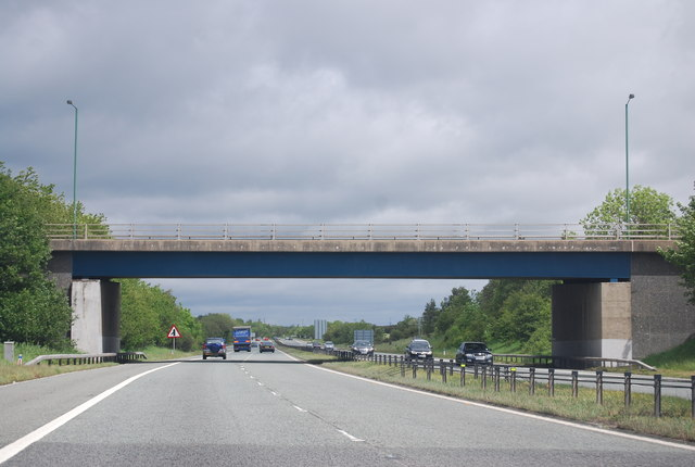 A1(M), overbridge Junction 61