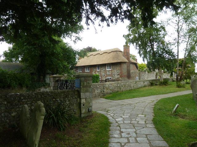 Thatched cottage opposite Bosham Churchyard