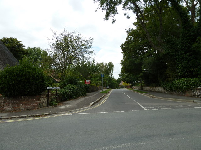 Looking from Bosham Lane into Mereton Road