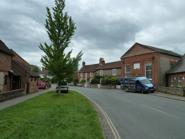 Grass verge in Bosham Lane