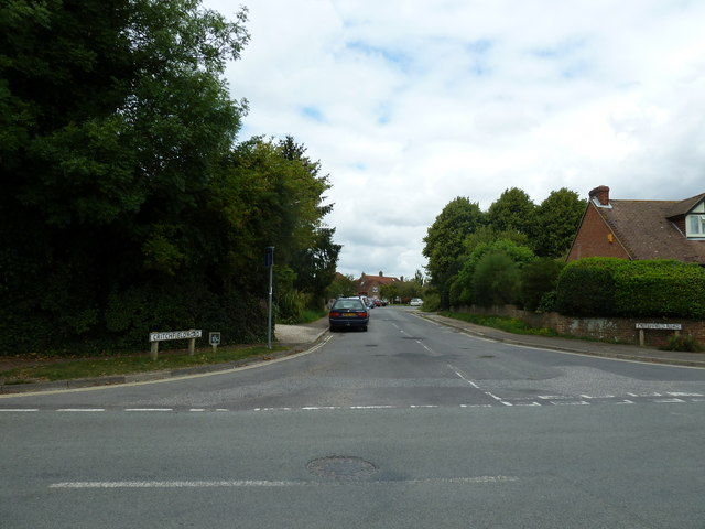 Looking from Bosham Lane into Critchfield Road