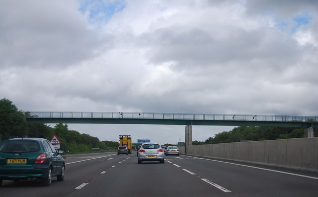 Footbridge over the A1(M) near Washington Services