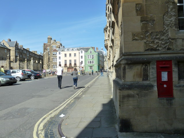 Postbox at the bottom of Oriel Street