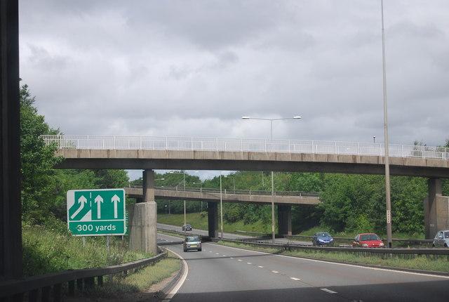 Footbridge, A1 / A692 Junction, A1