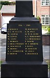 SO8483 : Inscription on new War Memorial - east side, High Street, Kinver by P L Chadwick