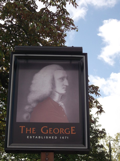 The George Pub Sign, Hayes