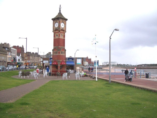 The clock tower on Morecambe promenade