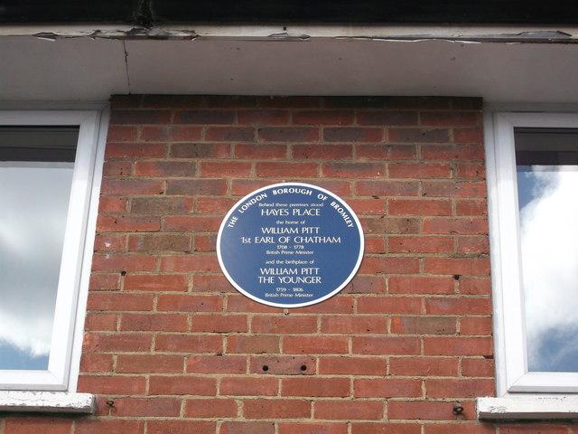 Blue Plaque of William Pitt