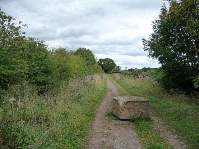 Discouraging vehicles on Bog Lane