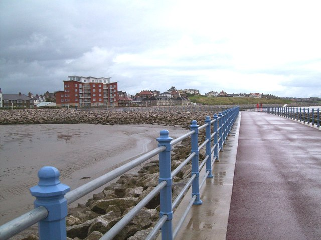 Sandylands viewed from stone pier at Morecambe