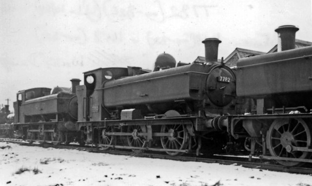 Swindon Works: condemned 0-6-0 Pannier Tanks in the snow